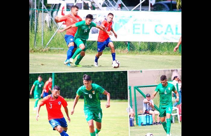 Partido amistoso entre las selecciones de Bolivia y Chile. Foto: Twitter Oficial @FBF_BO