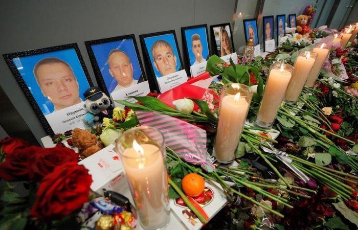 Homenaje póstumo en Ucrania, a víctimas del accidente aéreo. Foto: EFE