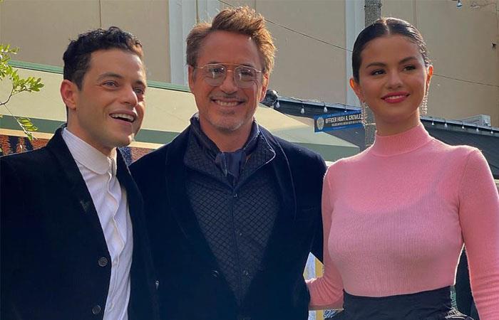 Rami Malek, Downey Jr, y Selena Gómez en el elenco de 'Dolittle'. Foto: Twitter