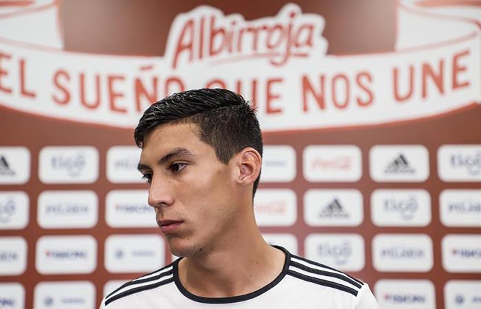 Enzo Giménez, mediocampista de la sub 23 paraguaya -. Foto: EFE