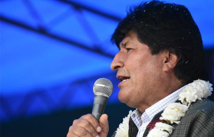Evo Morales causó indignación en el gobierno de Bolivia. Foto: Twitter
