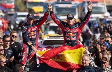 Los españoles Carlos Sainz y Lucas Cruz consiguen el título de campeones del Rally Dakar 2020