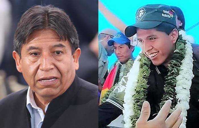 David Choquehuanca como candidato a la Presidencia y Andrónico Rodríguez para la Vicepresidencia. y Twitter @FreddyteleSUR. Foto: EFE