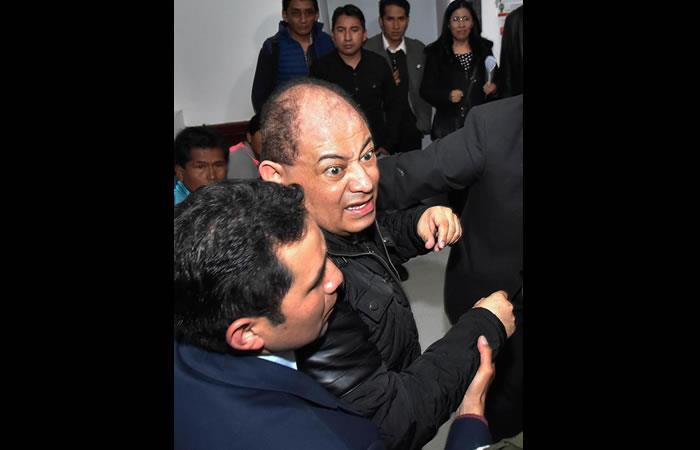 Exministro de Evo Morales, Carlos Romero fue enviado a prisión por seis meses. Foto: EFE.