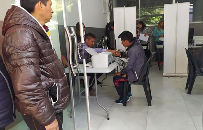 Empadronamiento biométrico Bolivia 2020. Foto: ABI.