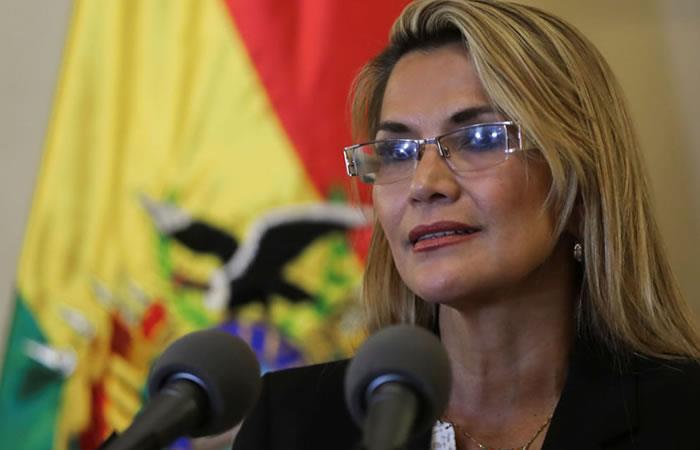 Presidenta Interina Jeanine Áñez. Foto: Twitter
