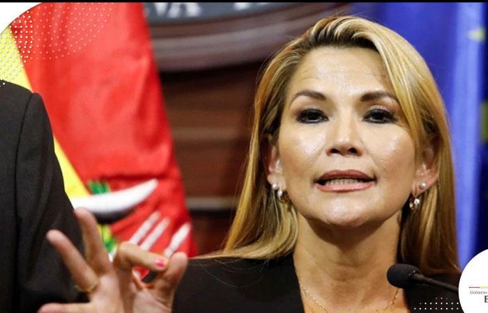 "Áñez también advirtió de presuntos intereses de ""desestabilización"". Foto: Twitter"