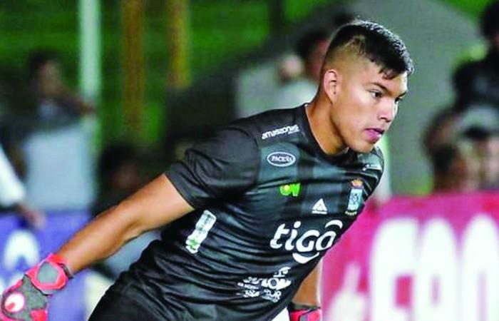 Rubén Cordano portero de la Selección Sub-23 - Foto tomada de Twitter.