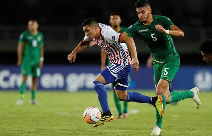 Bolivia cae 0-2 ante Paraguay en el Preolímpico 2020. Foto: EFE.