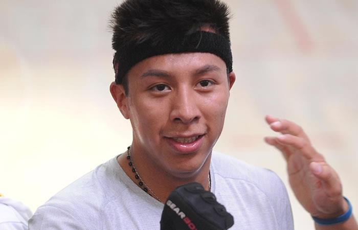 Conrrado Moscoso, deportista boliviano de raquetbol. Foto: Twitter @Evoespueblo