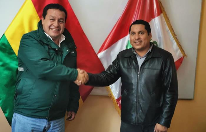 Autoridades de Bolivia y Perú. Foto: ABI.
