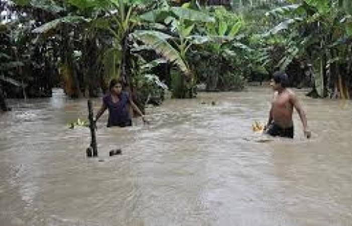 Mizque, uno de los municipios más afectados por la crecida de los ríos. Foto: ABI.