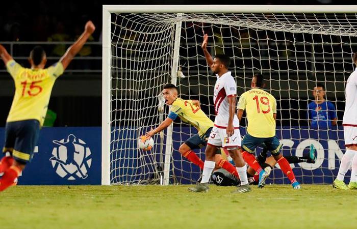 Colombia derrotó a Venezuela. Foto: EFE