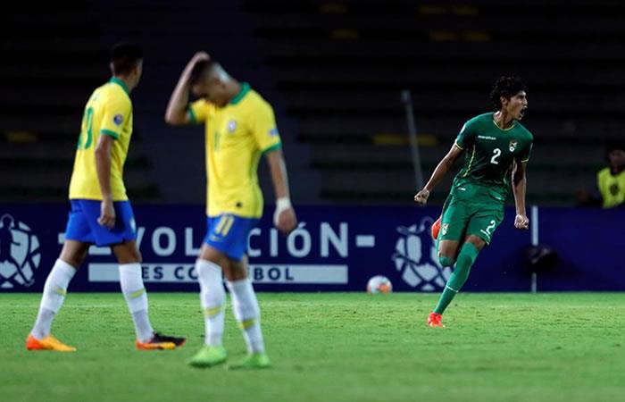 Brasil ganó ante un Bolivia que lo dio todo. Foto: EFE.
