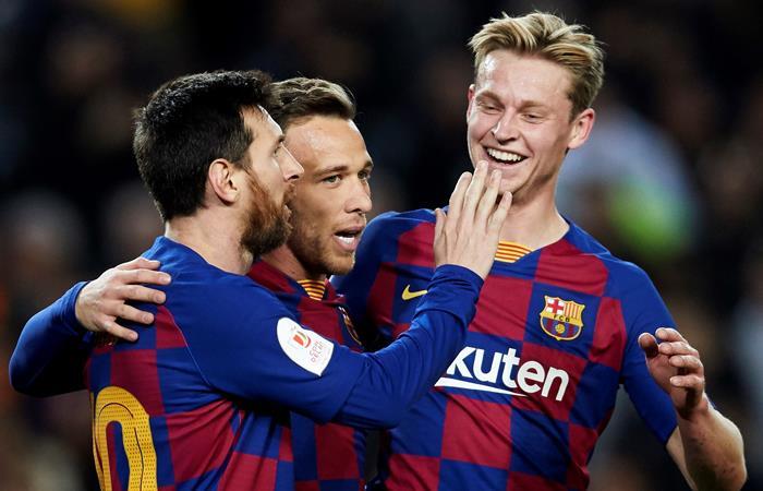 Messi alcanzó 500 victorias con la camiseta de Barcelona. Foto: EFE