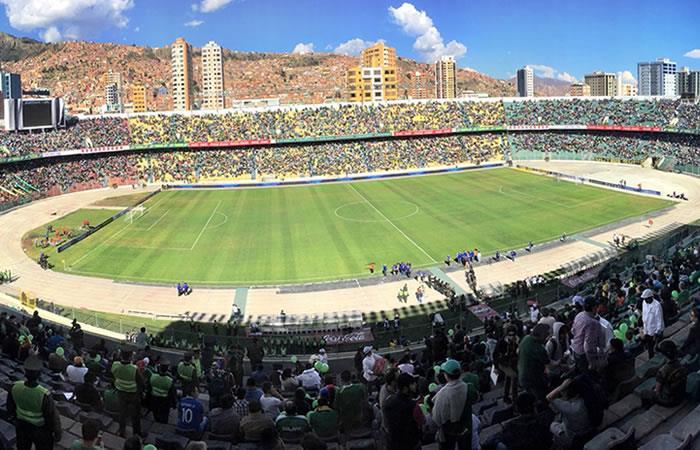 Estadio Hernando Siles en La Paz. Foto: Twitter @DxVidabolivia