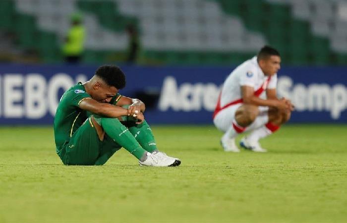 El gol de Perú generó polémica y tensión entre los jugadores. Foto: EFE.