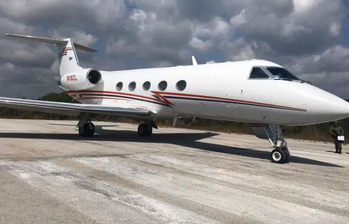 La aeronave transportaba una tonelada de cocaína. Foto: Twitter @Sorge6