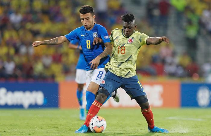 Colombia y Brasil buscan un cupo a los Juegos Olímpicos. Foto: EFE