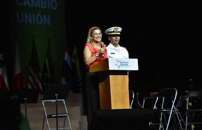 La Presidenta destaca el talento de los jóvenes. Foto: ABI