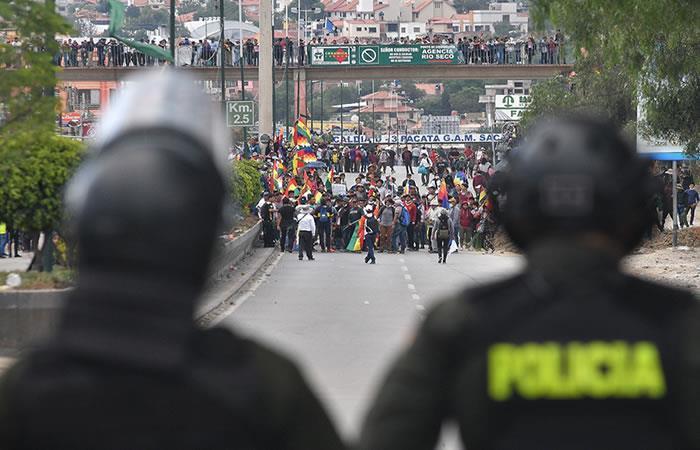 Posibles manifestaciones si Morales es candidato al Senado. Foto: EFE