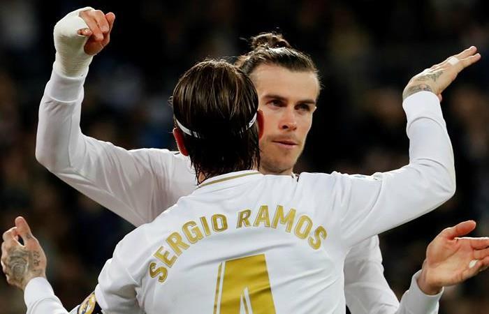 Sergio Ramos y Gareth Bale. Foto: EFE