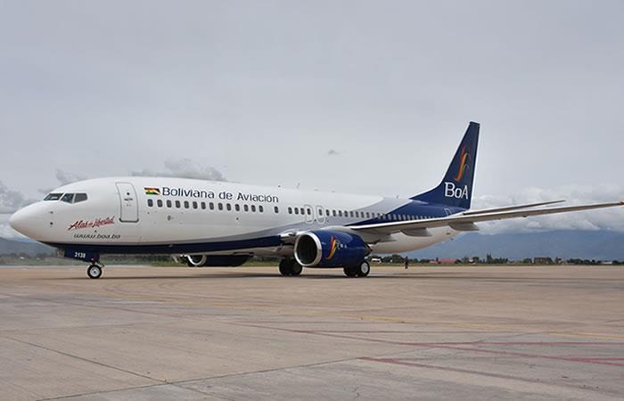 Boeing 737-800 NG 'Alas de Libertad', recientemente incorporado a la flota boliviana. Foto: ABI