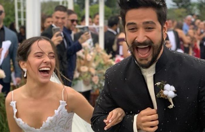 matrimonio de Evaluna y Camilo Echeverry. Foto: Instagram