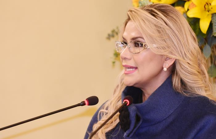 Presidenta Interina Jeanine Áñez. Foto: EFE
