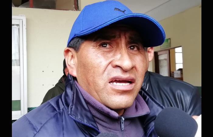 Exministro de Desarrollo Rural y Tierras, César Cocarico. Foto: ABI.