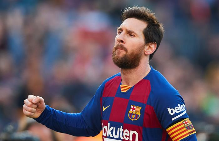 Lionel Messi es el goleador de la Liga Foto:EFE