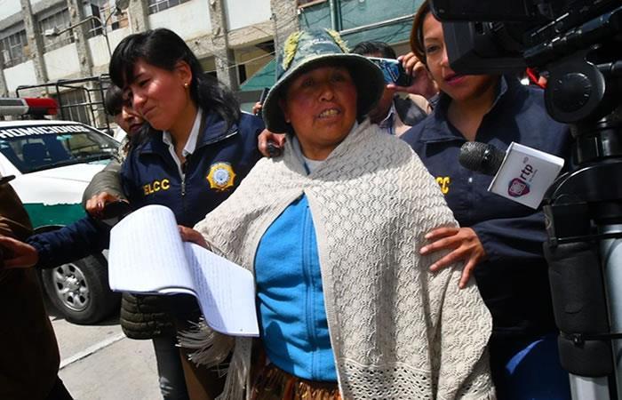Exdirigente de la Federación de Mujeres Campesinas de La Paz