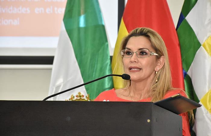 Presidenta Interina Jeanine Áñez. Foto: EFE.