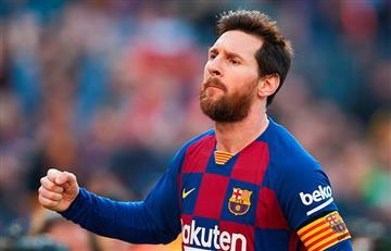 Leo Messi marcando la diferencia en la liga
