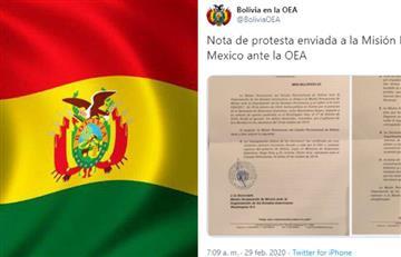 Bolivia envía nota de protesta y rechaza injerencia de México