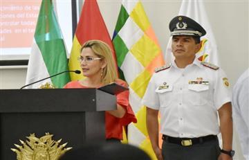 Áñez denuncia que grupos criminales de cuatro países operan en Bolivia