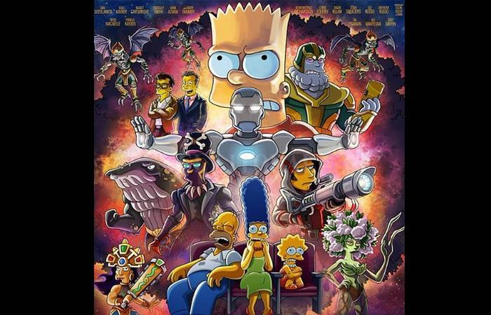'Los Simpson' sigue haciendo de las suyas y está vez será para 'Avengers'. Foto: Twitter