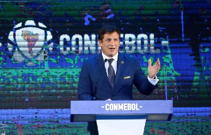Presidente de la Confederación Sudamericana de Fútbol (Conmebol), Alejandro Domíguez. Foto: EFE.