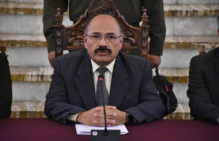 Ministro de Salud, Anibal Cruz. Foto: ABI.
