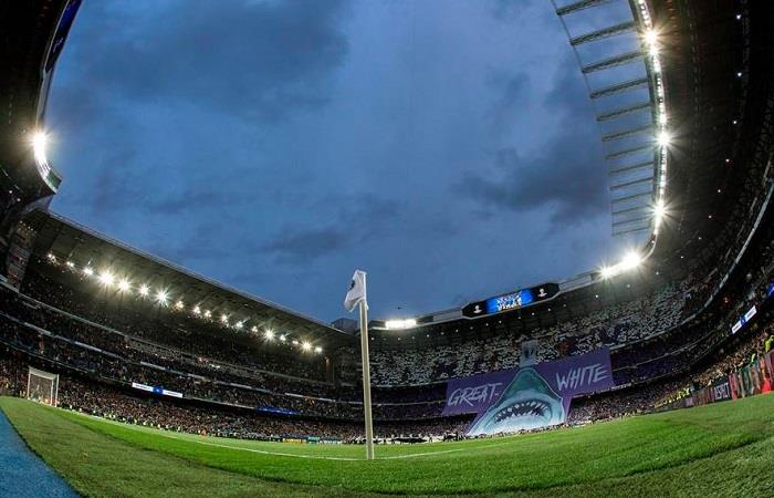 Pese a la dificil situación que vive España el estadio Bernabeu recibira donaciones sanitarias. Foto: EFE