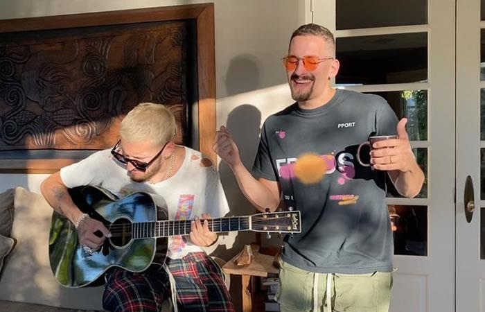 Cuarentena en casa con buena música, buenos planes al lado de los famosos. Foto: Instagram @mauyricky
