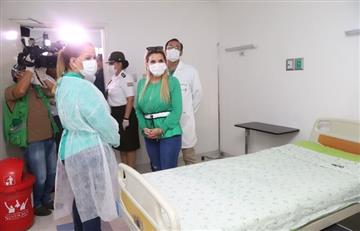 Presidenta Áñez garantizó funcionamiento del hospital Pampa contra el COVID-19 en Santa Cruz