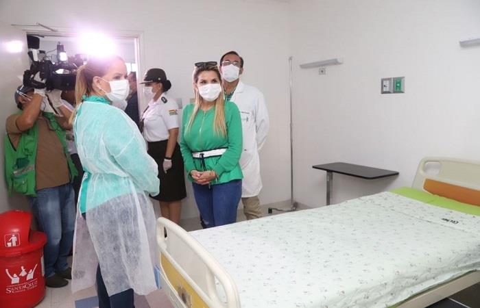 Hospital Pampa cuenta con funcionamiento para pacientes con el COVID-19.  Foto: ABI