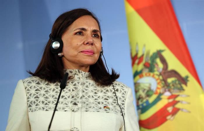 """La canciller interina de Bolivia manifestó que la repatriación de extranjeros no representa """"ningún peligro para los bolivianos"""". Foto: EFE"""