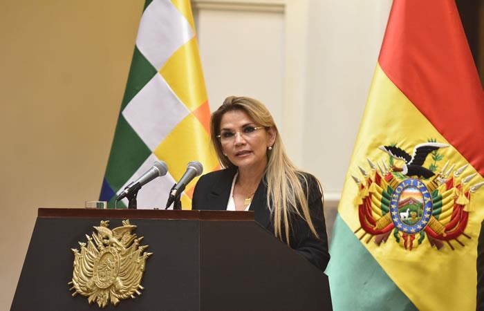 Presidenta interina de Bolivia Jeanine Áñez. Foto: ABI.