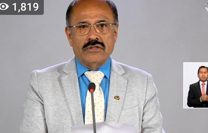 Ministro de Salud, Aníbal Cruz. Foto: ABI.
