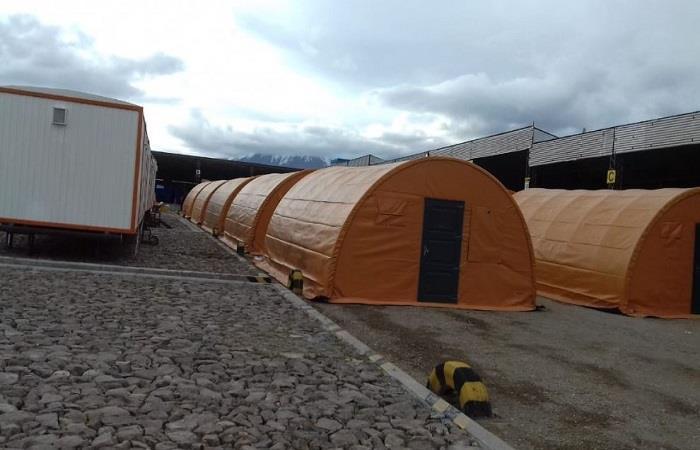 Nueva base de campamento bolivianos. Foto: ABI