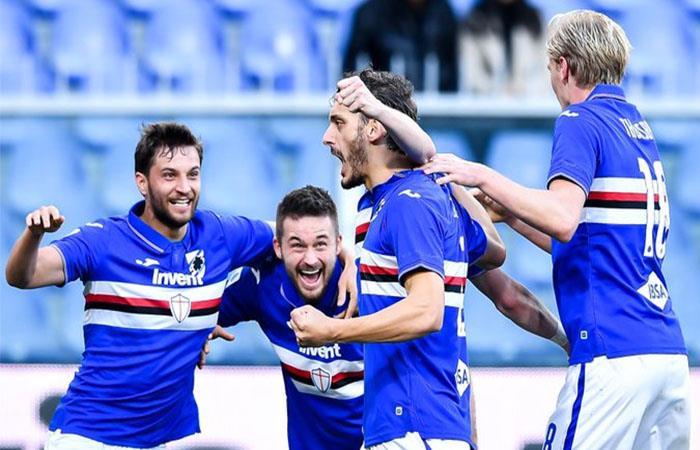 Sampdoria confirmó la recuperación de todos sus jugadores. Foto: Twitter @sampdoria