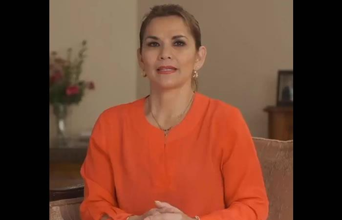 Presidenta Interina Jeanine Áñez. Foto: Twitter @JeanineAnez