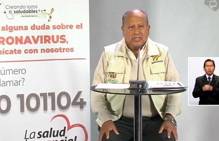 Jefe nacional de la Unidad de Epidemiología del Ministerio de Salud, Virgilio Prieto. Foto: ABI.